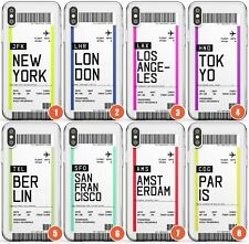 Customised Boarding Pass Design Slim Phone Case for iPhone | Personalised Travel