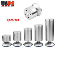 Stainless Steel Set of 4 Adjustable Sofa Chair Table Cabinet Legs Lift Furniture