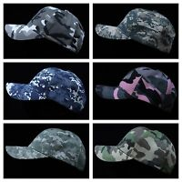 Men's Baseball Cap Adjustable Hat Camo Army Military Hat Hip Hop Fashion Casual