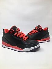 Nike Air Jordan 3 III Retro Crimson Black 2012 136064-005 Size 9.5 Cement