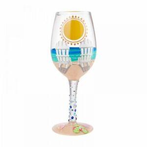 Lolita Sun of a Beach Wine Glass 6009213 - New In Box