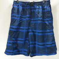 NBN Gear Board Shorts Swim Wear Blue Print Mesh Lined Mens Size XL NEW