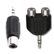 KIT 2X Adattatore convertitore split audio jack aux 3.5mm maschio a RCA Femmina