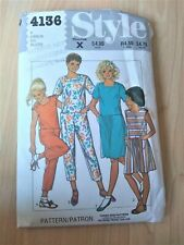 1980s Style sewing pattern 4136 girls sundress summer dress jumpsuit Age 7 B26""