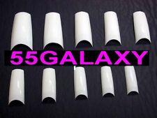 500 FRENCH WHITE NAIL TIPS half well false art acrylic gel fibreglass nails