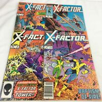 X-Factor Lot of 4 Comic Book Issues 1, 2, 3, 4 Marvel (1986 1st Series)