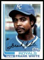 1982 Topps Baseball Frank White Kansas City Royals #645