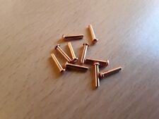 2mm x 10mm IN RAME TESTA TONDA Snap solidi Rivetti Qtà 100