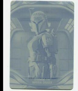 Topps STAR WARS MANDALORIAN SEASON 2 BO KATAN PRINTING PLATE #33 YELLOW