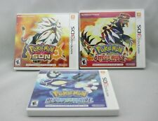 Nintendo 3DS Game Lot Pokemon: SUN, OMEGA RUBY, ALPHA SAPPHIRE Free Shipping