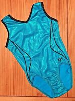 GK ELITE Gymnastics LEOTARD Olympic Blue COMPETITION Practice BODYSUIT  Sz: CS