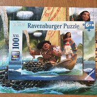 Moana Ravensburger 100 Piece Jigsaw Puzzle XXL Moana and Maui Disney