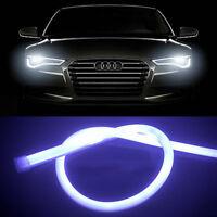 2 Pcs 60CM LED White Car DRL Daytime Running Lamp Strip Light Flexible Soft Tube
