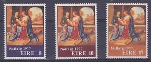 Ireland 1977 #423-25 Christmas (Holy Family – set of 3) - MNH