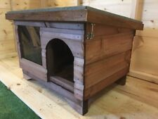 medium Dog/Cat Kennel/ Shelter  House box/ with window DELIVERED FULLY ASSEMBLED