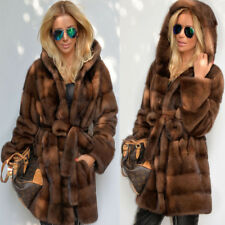 Da donna giacca parka con cappuccio top invernale cappotto Taglia SMLXLXXL3XL