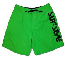 Vtg 90s Surf Style 3XL Swim Trunks Suit Bathing Neon Lime Green Excellent Cond.