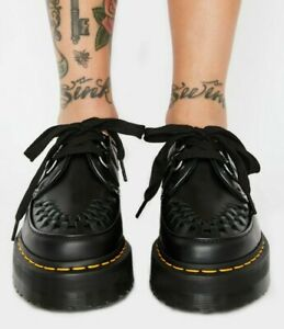 NEW IN BOX!! Dr Martens SIDNEY Black Quad Platform Creepers Size UK 4