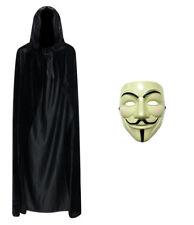 Anonymous V For Vendetta Guy Halloween Fancy Dress Face Mask + Hooded Cape