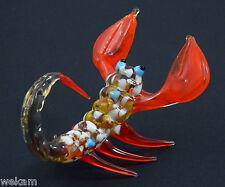 Glass Blown Art Figurine animal SCORPION Murano Style Nr. 4044