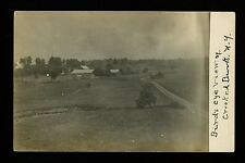 Crooked Brook, New York NY real photo postcard RPPC Vintage farm buildings