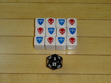 Heroscape Dice Set - Rise of the Valkyrie - Marro - Marvel - Complete White Set