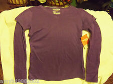 Danskin Active Purple Thermal Tee Size Small  4/6 Women's NEW FREE USA SHIPPING