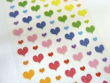 Piccolo cuore colorati adesivi Kids etichette per la decorazione artigianale card-making pvc13