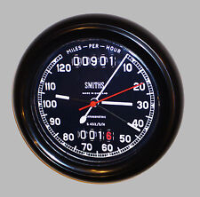 Vintage Motorcycle Classic Speedometer Smiths Style Wall Clock 1940's Style.