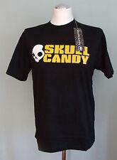 SKULL CANDY Ear/ Head Phones T-Shirt Small S NEW Black/ White/ Yellow