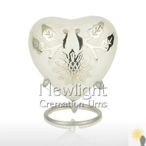 Pearl Lotus Flower (3inch Heart), Keepsake Urns, Heart Keepsakes, Mini Urns
