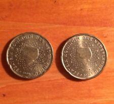Coins X 2 - Netherlands 20 Euro Cents (1999 & 2000)