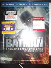 BATMAN: THE DARK KNIGHT RETURNS Deluxe Blu-Ray Steelbook w/ Cards COMPLETE RARE