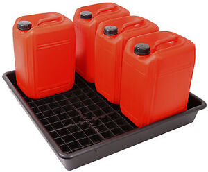 Oil Chemical Bunded Drip Sump Spill Pallet Tray  60litre / 5 x 25 litre