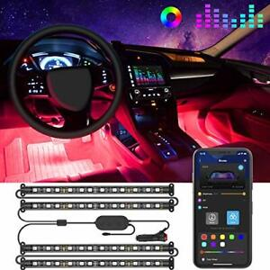 Govee Interior Car Lights LED Car Strip Lights with Two-Line Waterproof Desig...