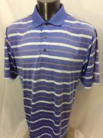 FootJoy  Golf Striped Shirt Purple Polo Size Large