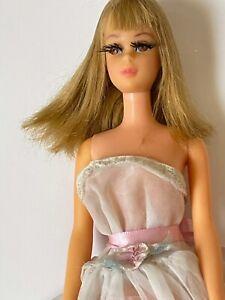 Vintage 1966 Barbie Francie Doll Mattel Bend Leg Blonde Bangs & Rooted Eyelashes