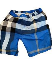 Pre Own Authentic Men's Burberry Swim Trunks,  Size Small, Color blue