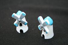 2 Tiny Windmills Micro Figurine Terrarium Fairy Moss Garden Bonsai Decor