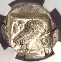 Ancient Athens Greece Athena Owl Tetradrachm Coin (440-404 BC) - NGC MS (UNC)!