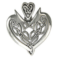 Celtic Irish Love Knot Heart Pendant | Sterling Silver | Concealed Bail .925 ss