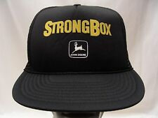 STRONGBOX - JOHN DEERE - TRUCKER STYLE ADJUSTABLE SNAPBACK BALL CAP HAT!