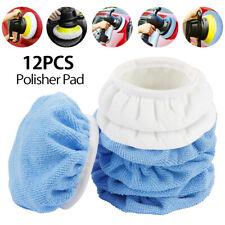"12X 5-6"" Car Polisher Auto Bonnet Soft Wool Polishing Waxing Buffing Pad Cover"