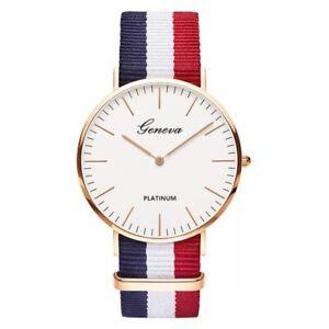 Men Women Ultra Slim Quartz Watch Simple Nylon Band Wristwatches New Fashionable