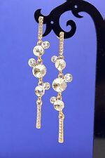 Fashion Rhodium Plated Clear Crystal Rhinestone earrings GD1003