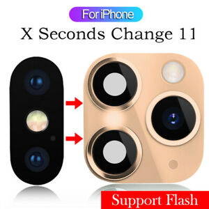 Fake Camera Lens Sticker Cover for iPhone XR X Change to iPhone 11 Pro Max~~~