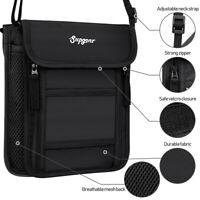 RFID-Block Wallet Travel Pouch Crossbody Shoulder Bag Passport Holder 10 Pocket