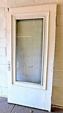 Antique 1900 Wooden Entry Door Original Glass & Trim Victorian Style Fir Ornate