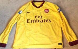 Arsenal Away Shirt 2010/11 Long Sleeve Size Large