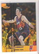 Rare 2000 Topps Finest Gold Refractor Luc Longley Insert Card 011/100 Autograph